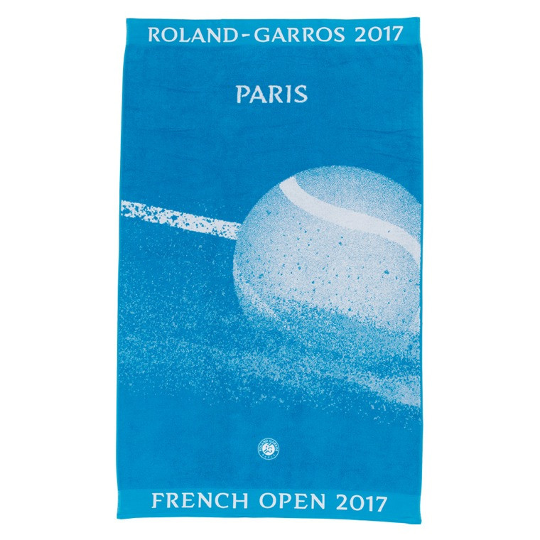 serviette de plage roland garros 2017 bleu carre blanc. Black Bedroom Furniture Sets. Home Design Ideas