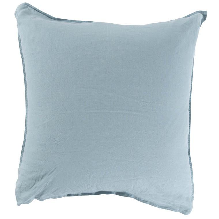 Taie d'oreiller carré en lin lavé Songe argile