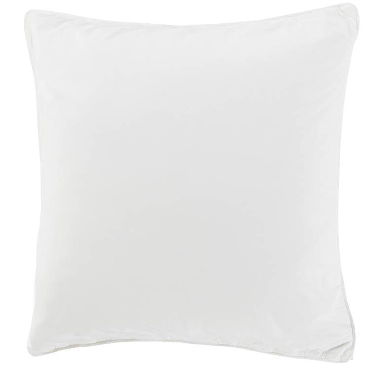 Taie d'oreiller carrée en pur coton lavé biologique Souffle blanc