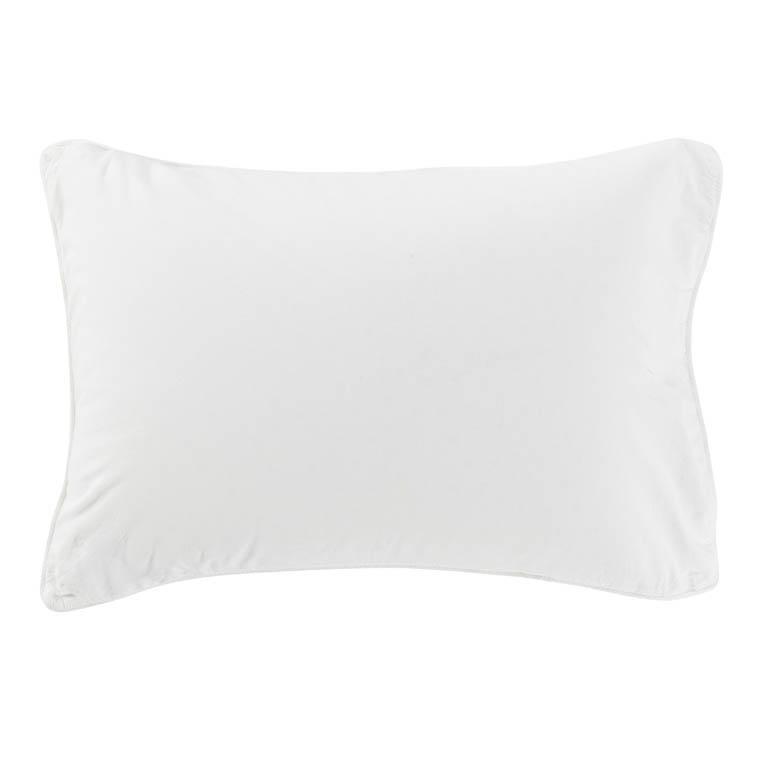 Taie d'oreiller rectangulaire en pur coton lavé biologique Souffle blanc