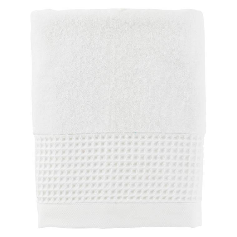 Drap de bain bouclette de coton biologique Source blanc