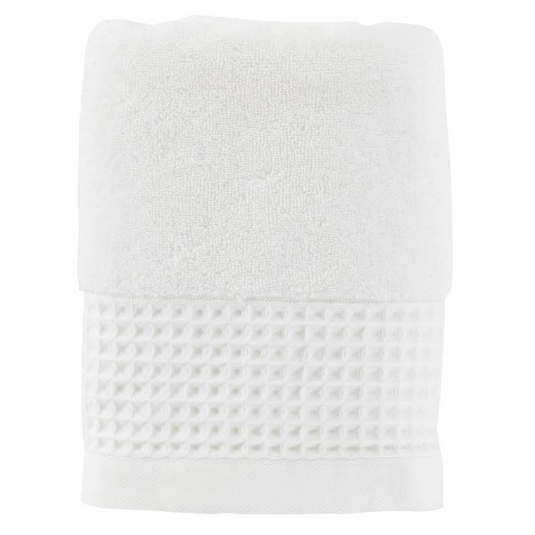 Serviette de toilette bouclette de coton biologique Source blanc