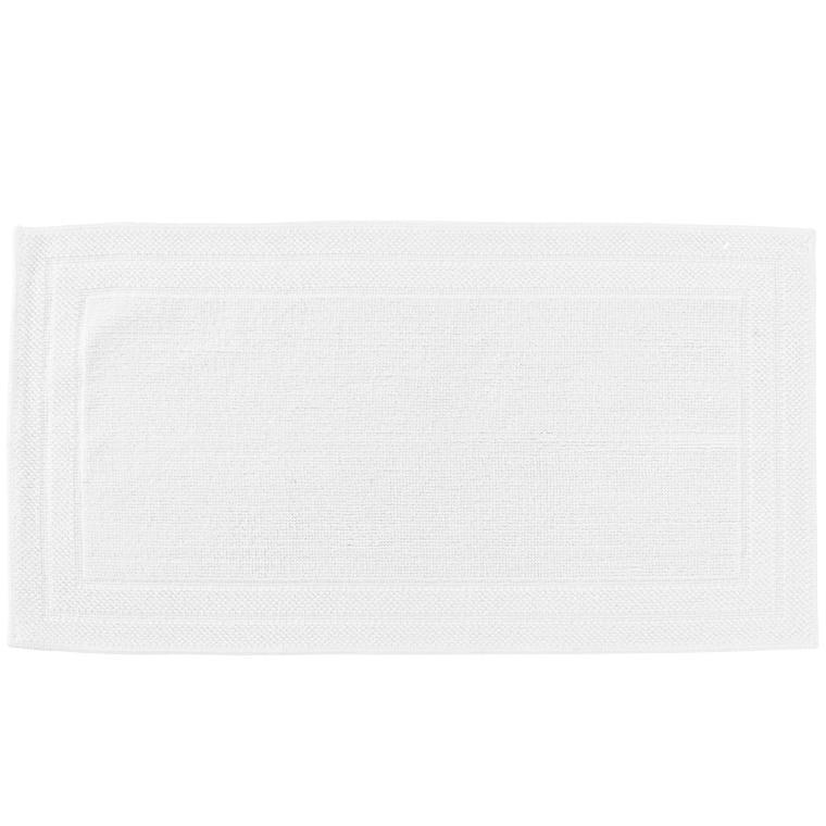 Tapis de bain bouclette de coton biologique Source blanc