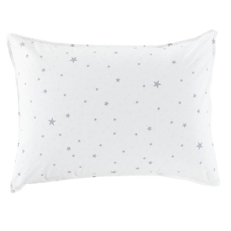 Taie d'oreiller rectangulaire coton lavé étoile Stars blanc
