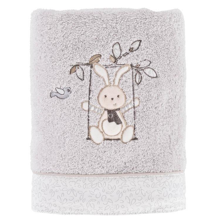 Linge De Toilette Carre Blanc #14: Serviette De Toilette PERLE