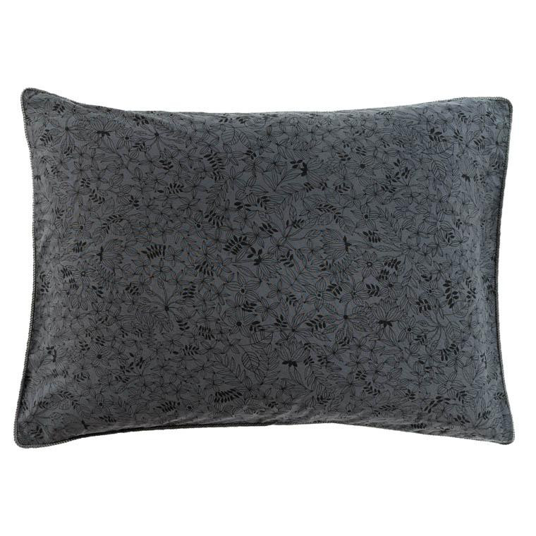 Taie d'oreiller rectangulaire coton imprimé lavé bohème floral vegetown