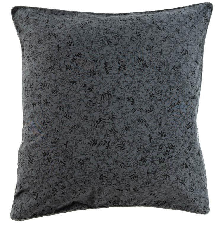 Taie d'oreiller carré coton lavé imprimé bohème floral Vegetown
