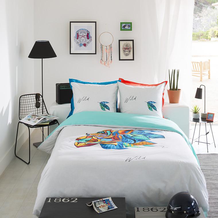 Parure de lit ado wild parures de lit ado carre blanc for Parure de lit couette