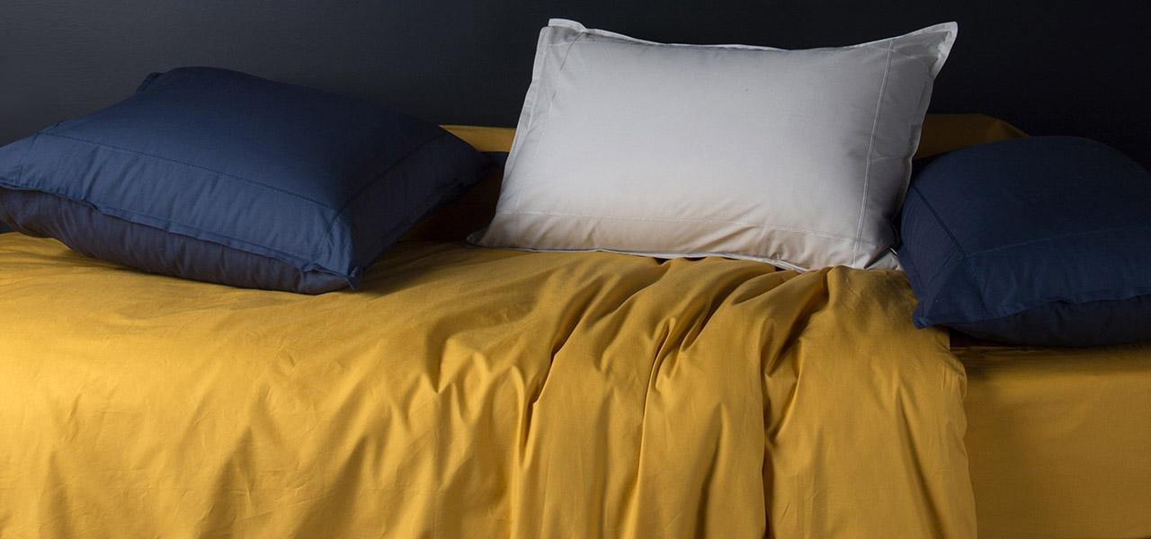 Parure de lit en percale de coton NEO Curry