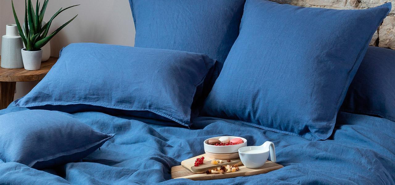 Parure de lit en lin Songe Encre