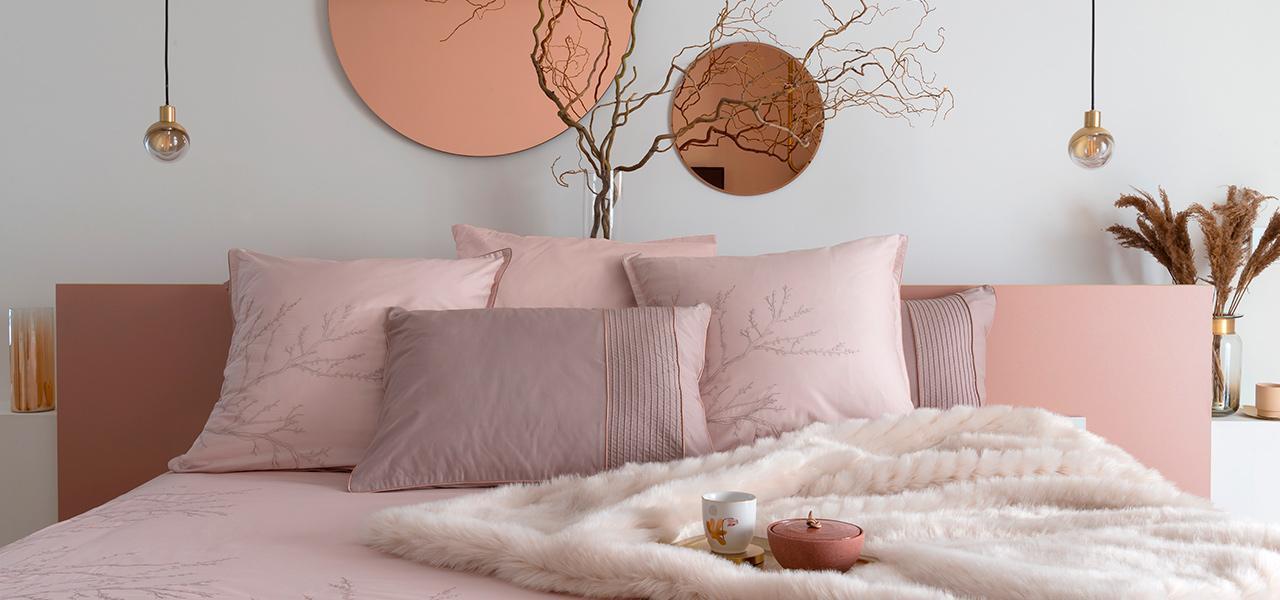 Parure de lit satin de coton Blush
