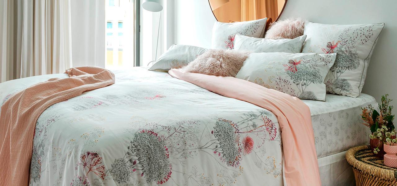 Parure de lit percale de coton CYBELE