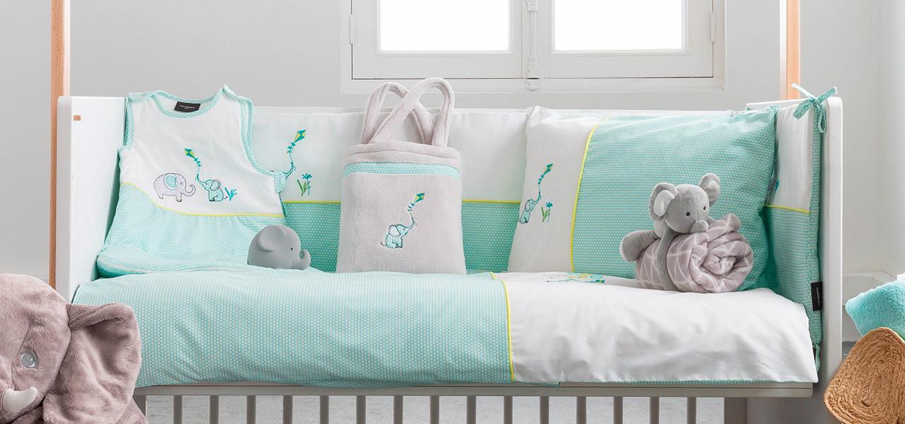 Parure de lit bébé percale de coton CYPRIEN