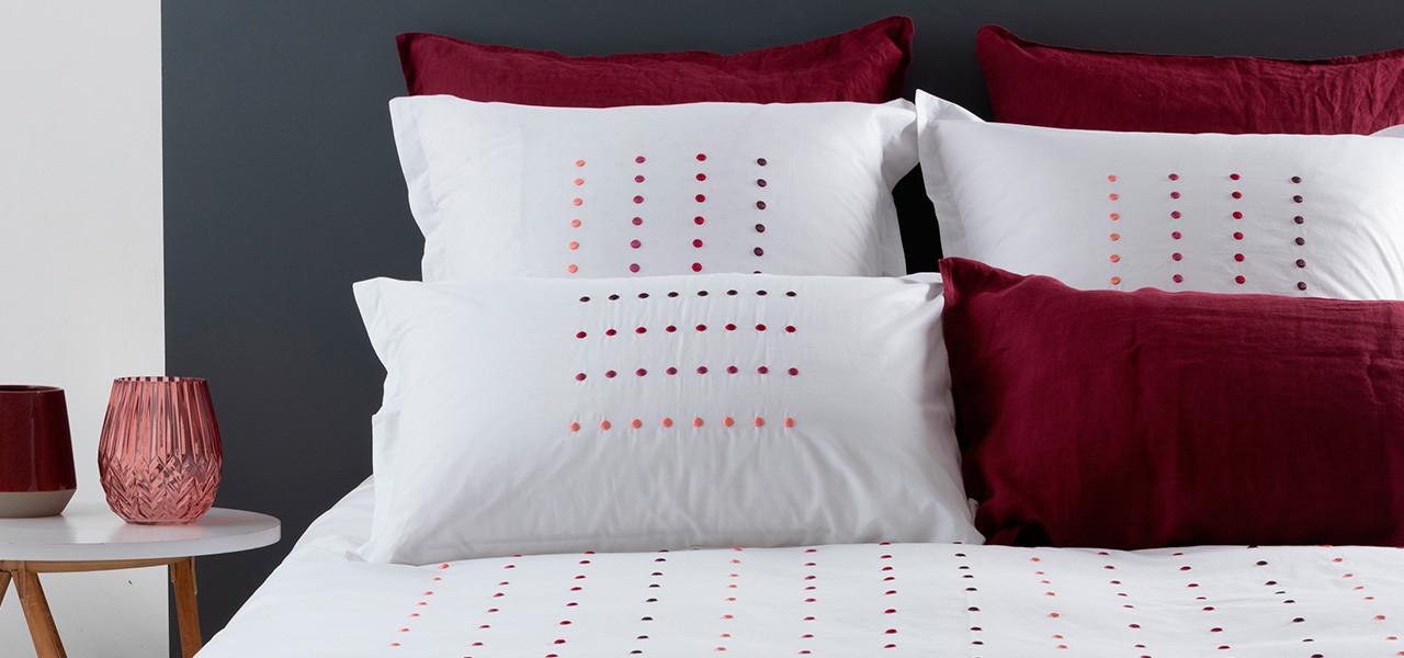 Parure de lit DOTS CORAIL