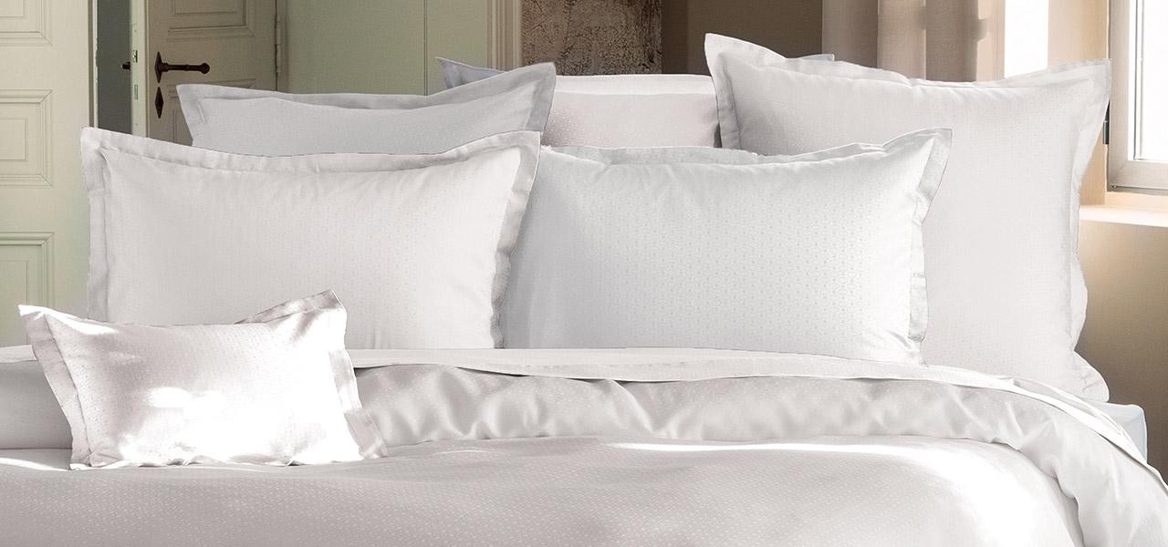 Parure de lit en satin de coton Maestro Blanc