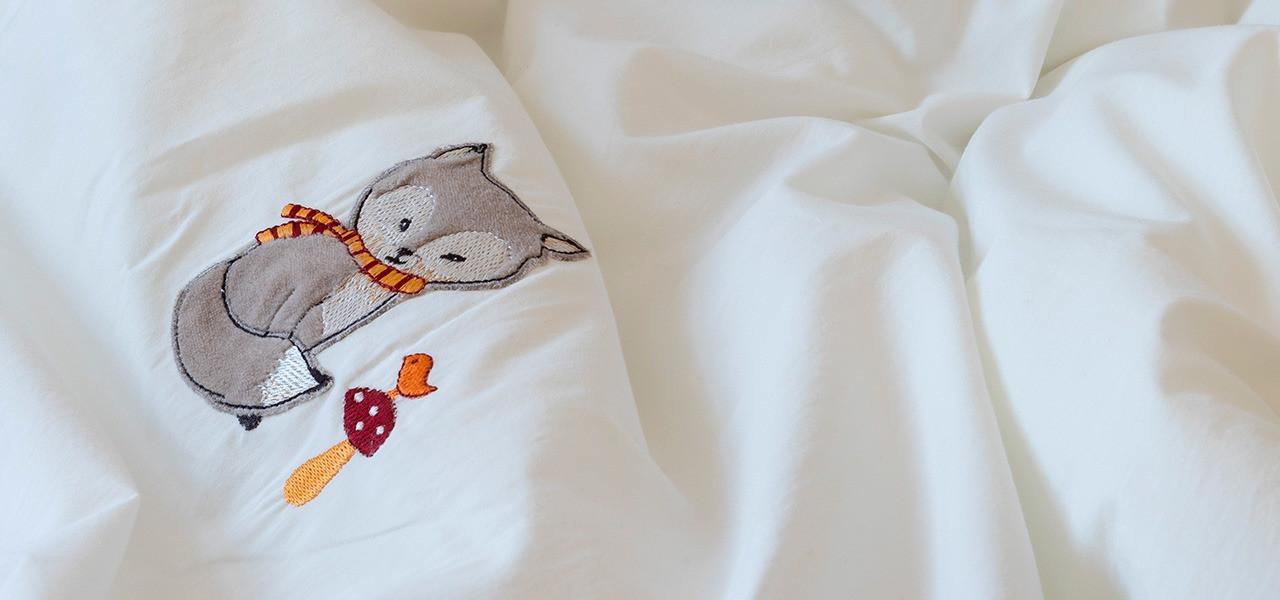 Parure de lit bébé percale de coton MAXOU