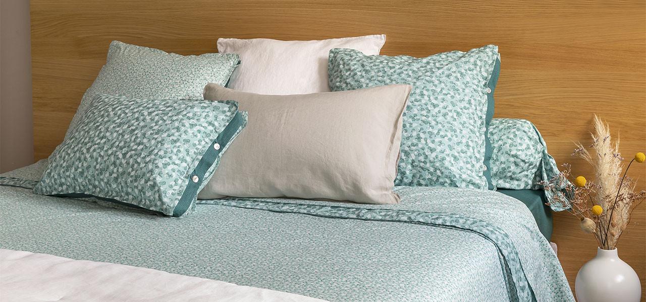Parure de lit percale de coton imprimée liberty fleurs Ondine bohème - vintage