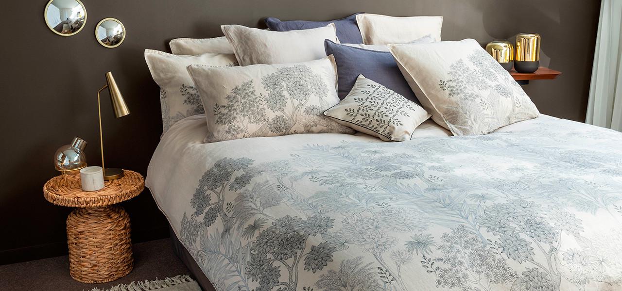 Parure de lit lin coton PANDYA