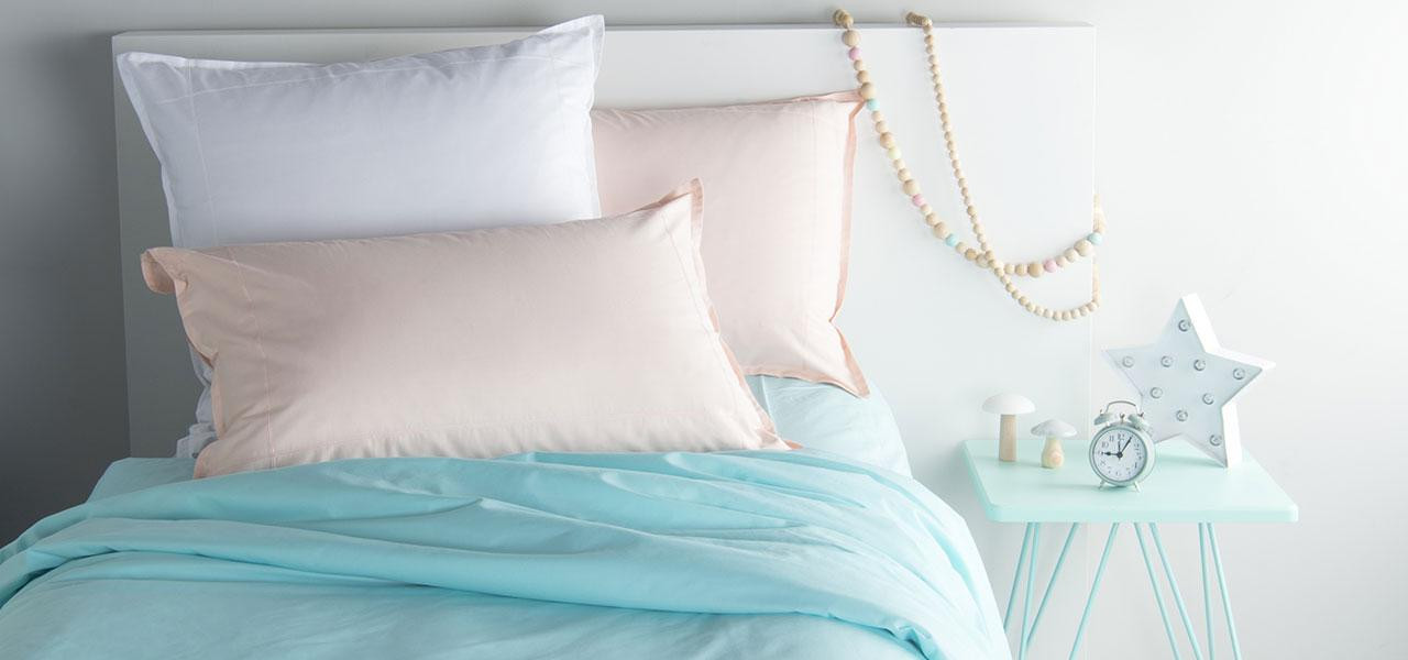 Parure de lit enfant percale de coton NEO lagon