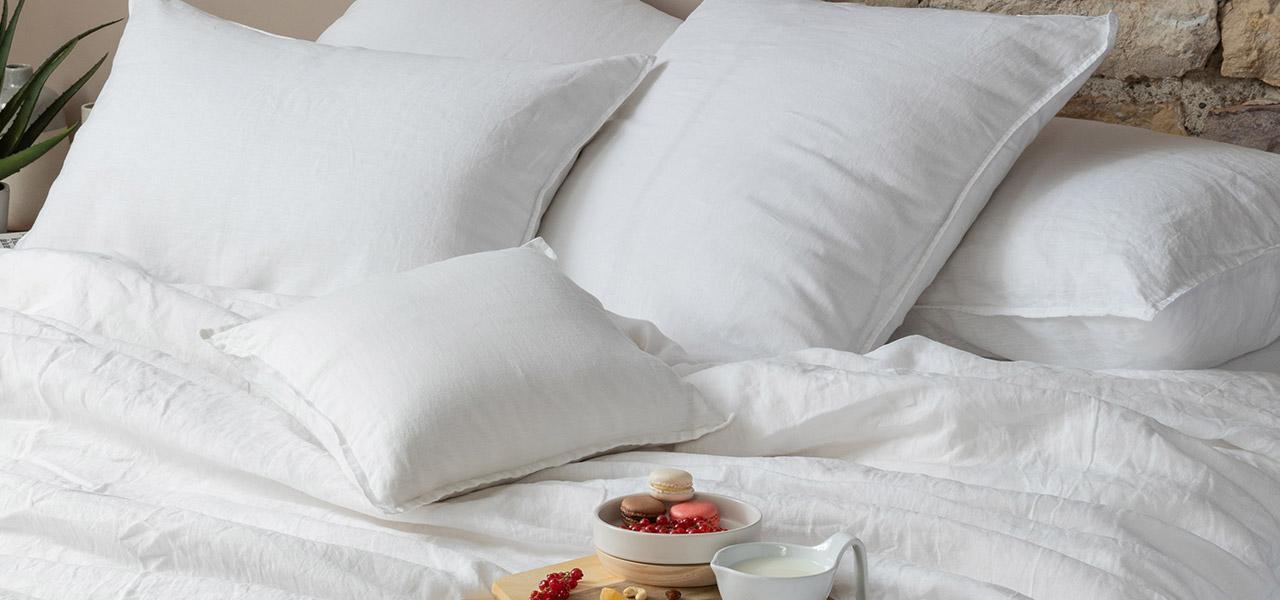 Parure de lit en lin SONGE Blanc