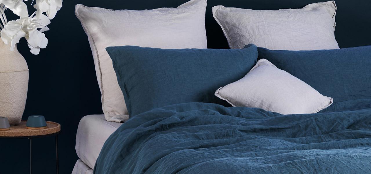 Parure de lit en lin SONGE Feuille