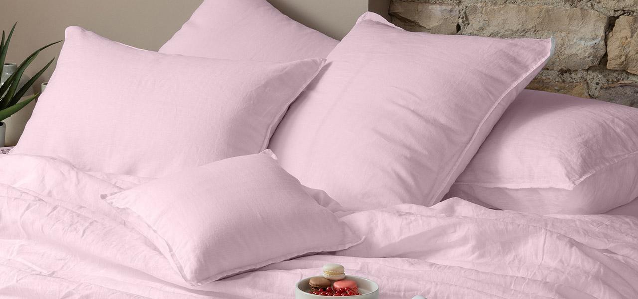 Parure de lit en lin SONGE Poudre