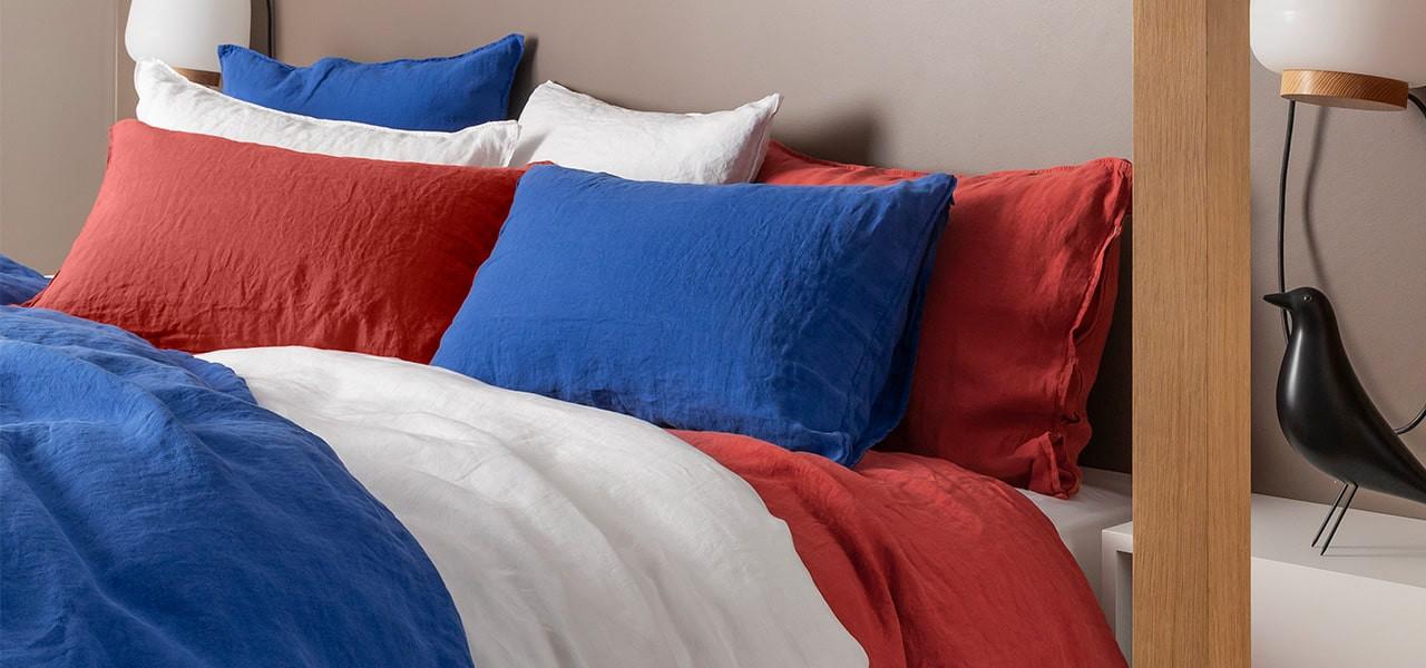 Parure de lit lin et coton lavé Songe plusieurs coloris
