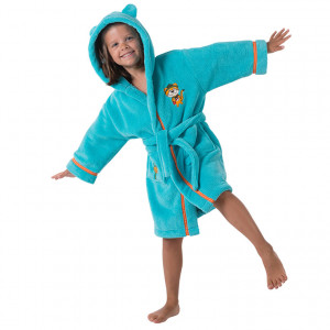 Robe de chambre CHARLIE TURQUOISE