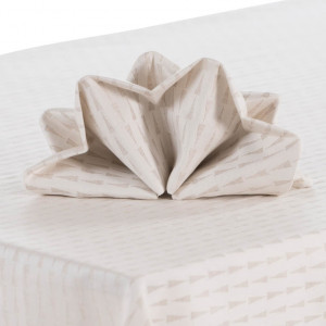 serviettes de table originales linge de maison carr blanc. Black Bedroom Furniture Sets. Home Design Ideas