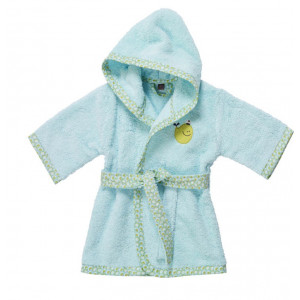Peignoir enfant à capuche Céladon