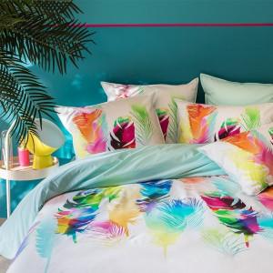 housse de couette et parure unie ou motif carr blanc. Black Bedroom Furniture Sets. Home Design Ideas