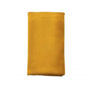 Plaid en coton lavé DECO OCRE