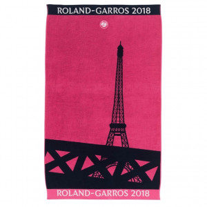 Serviette de plage Roland Garros 2018 ROSE