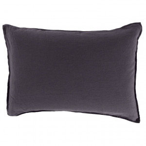 Taie d'oreiller rectangulaire SONGE ANTHRACITE