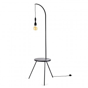 Table lampe DECO NOIR