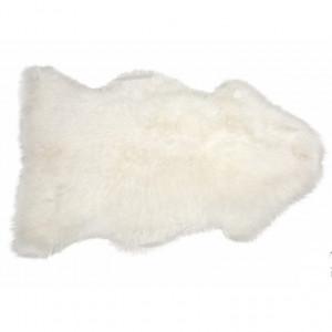 Tapis en peau de mouton DECO BLANC