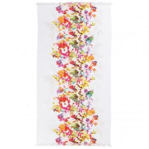 Fouta coton fleurs multicolores VAENA