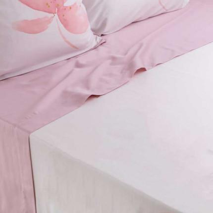 Drap de lit satin de coton imprimé fleurs Alcôve