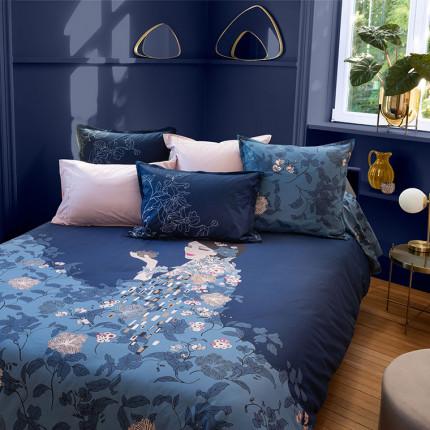 Parure de lit percale de coton imprimé floral Allégorie vintage