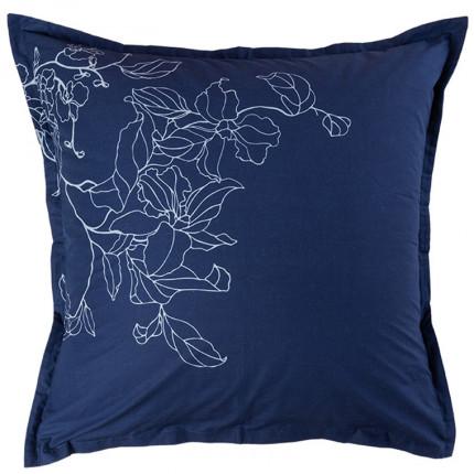 Taie d'oreiller carrée percale de coton imprimé floral Allégorie