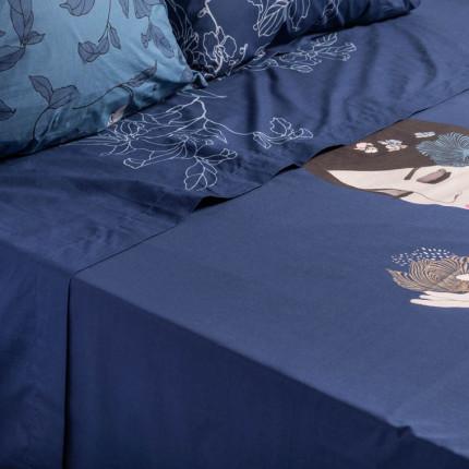 Drap de lit percale de coton imprimé Allégorie