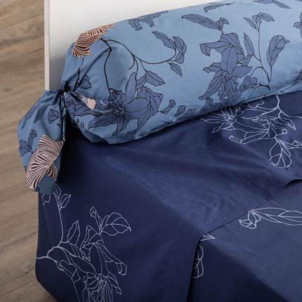 Taie de traversin percale de coton imprimée floral Allégorie