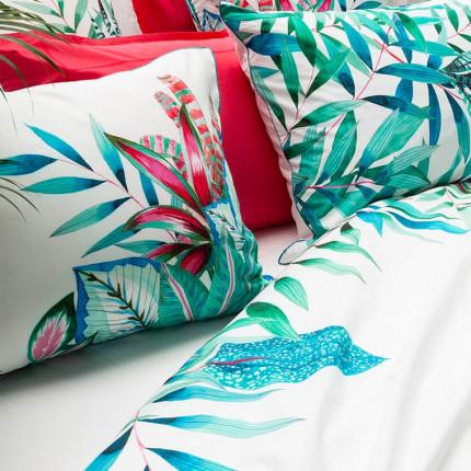 Drap de lit percale de coton végétal Aloe