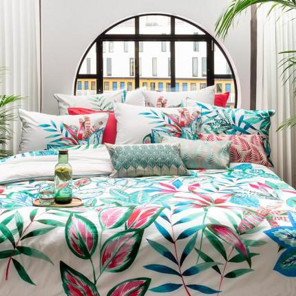 Parure de lit percale de coton Aloe