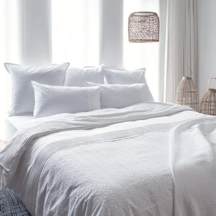 Parure de lit percale de coton Amanda classique chic