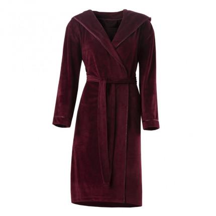 Robe de chambre femme microfibre Anae griotte