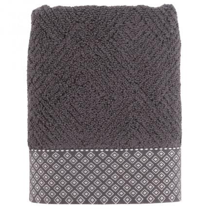 Serviette de toilette bouclette de coton Anton anthracite
