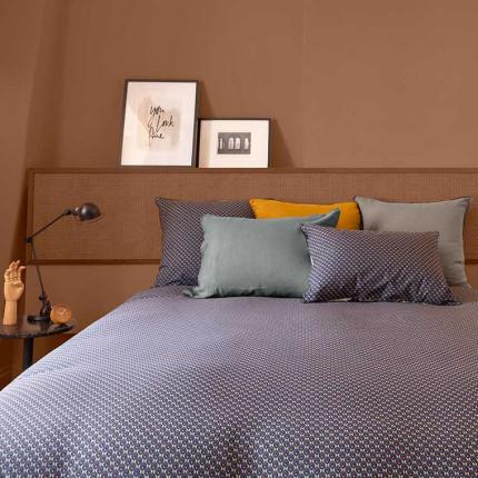 Parure de lit réversible percale de coton Anya graphique