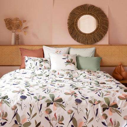 Parure de lit réversible percale de coton Anya floral