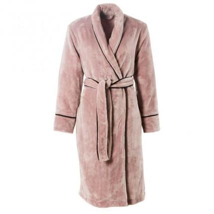 Robe de chambre femme col châle Aravis grège